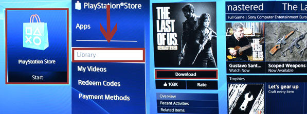 how to download games on ps4 from another account