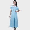 Blue Solid Nighty