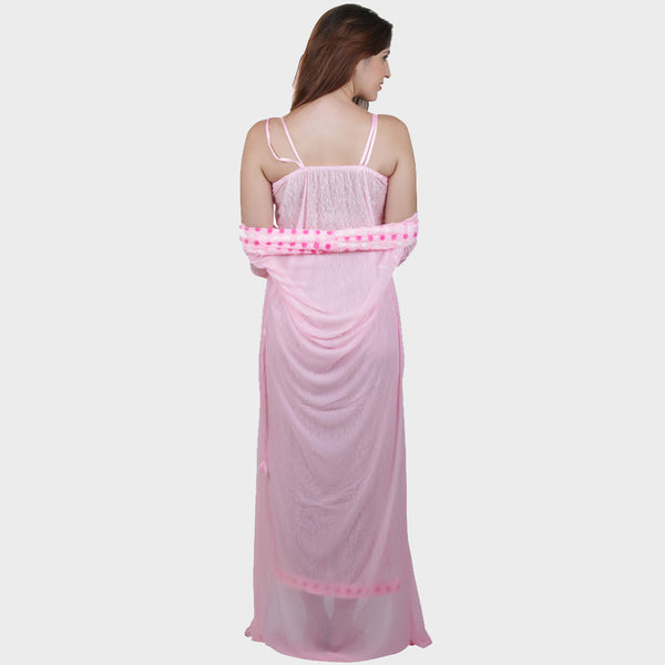 Vixenwrap Baby Pink Floral Print Nighty