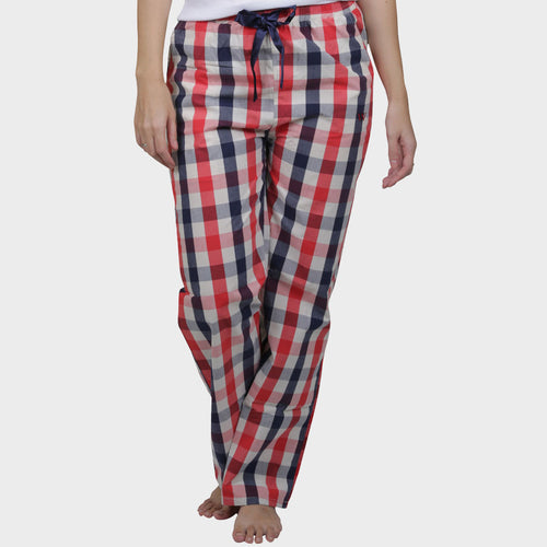 Red & Blue Checkered Cotton Pyjama