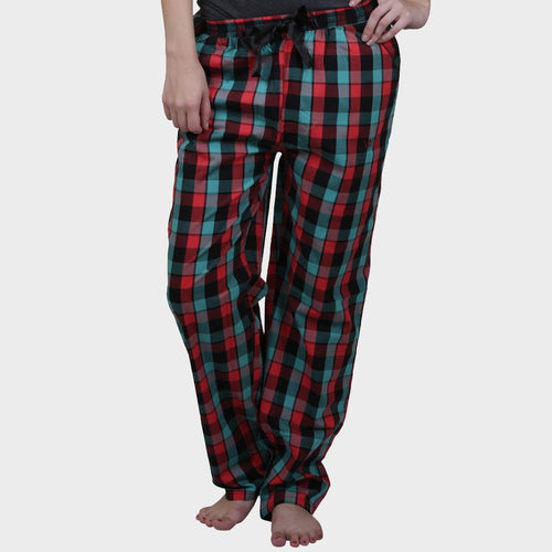 Multicolor Checkered Cotton Pyjama