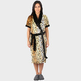 Animal Print Bathrobe
