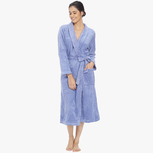 Carolina Blue Fleece Bathrobe