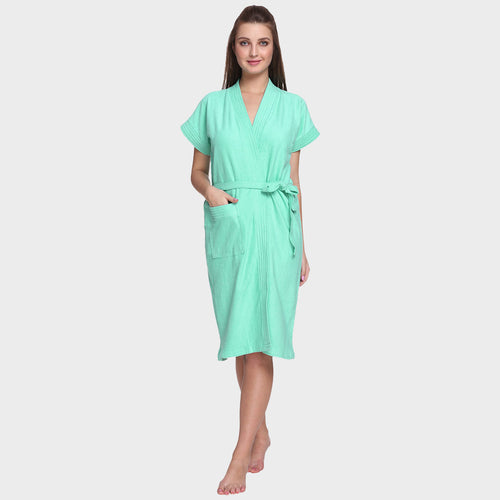Arctic Blue Water Absorbent Cotton Bathrobe