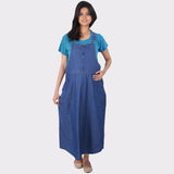 Denim Maternity Dress with Blue T shirt