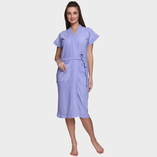 Carolina Blue Water Absorbent Cotton Bathrobe
