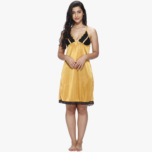 Vixenwrap Golden Yellow Satin Babydoll