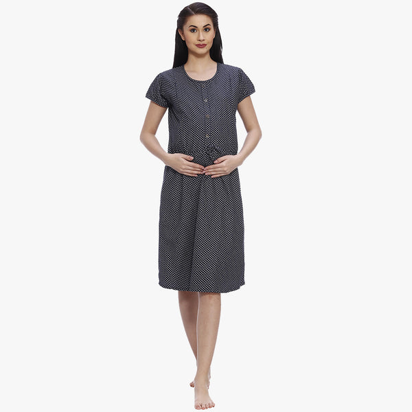 415b6104a4e94 Absolute Blue Denim Printed Maternity Dress – Vixenwrap