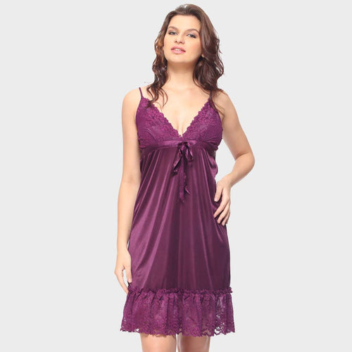Vixenwrap Cute Purple Solid Babydoll