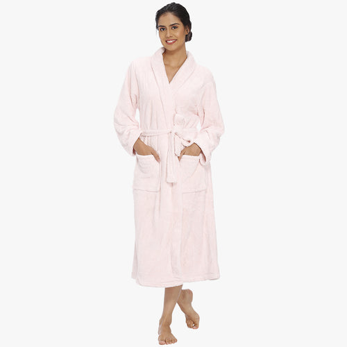 Baby Pink Fleece Bathrobe