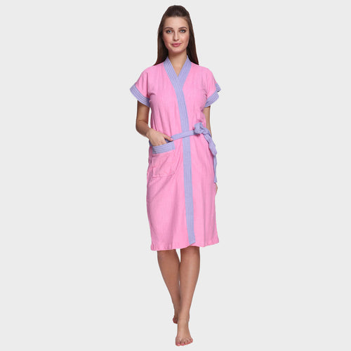 Baby Pink Water Absorbent Cotton Bathrobe