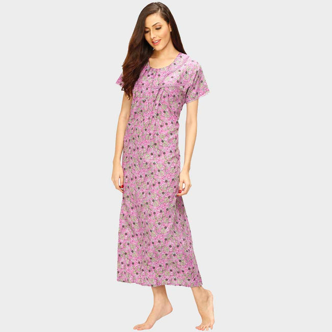 Vixenwrap Taffy Pink Floral Print Nighty