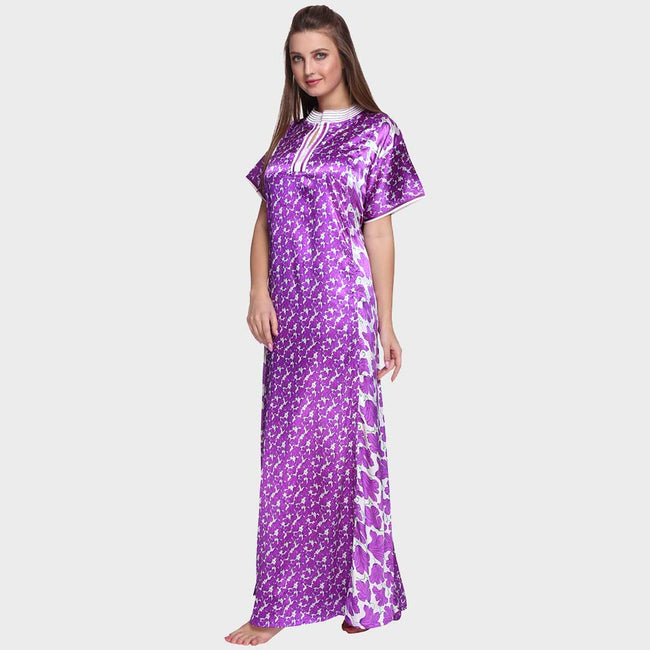 Vixenwrap Purple Printed Nighty