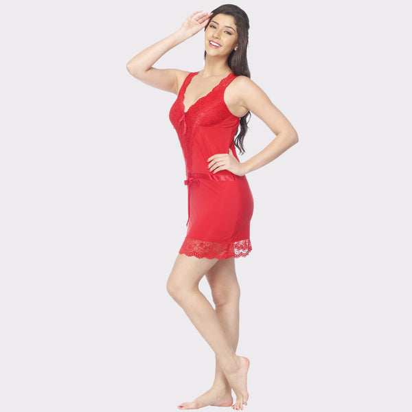 Vixenwrap Ruby Red Solid Babydoll