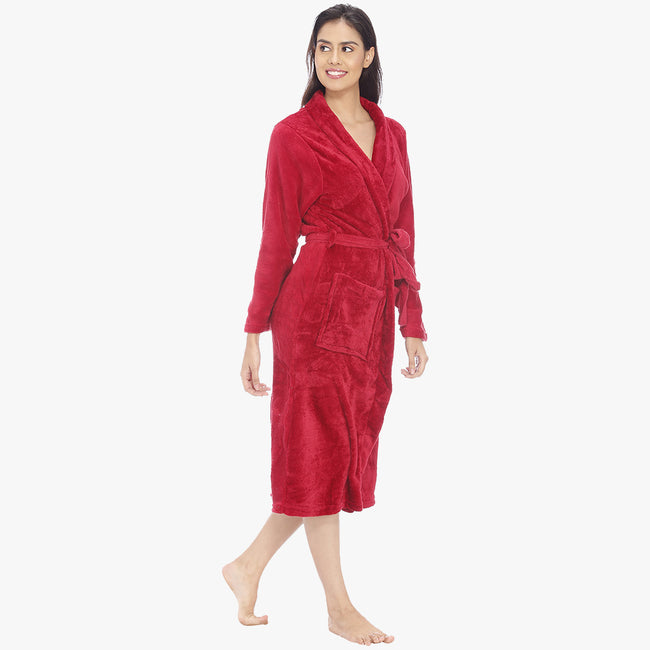 American Red Fleece Bathrobe