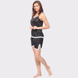 Vixenwrap Midnight Black Solid Top & Shorts Set