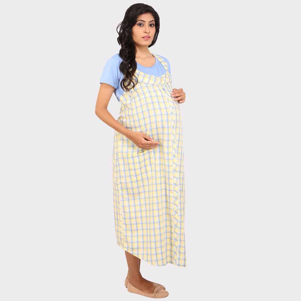 b8bb0c2647 Cream White Checkered Maternity Dress – Vixenwrap