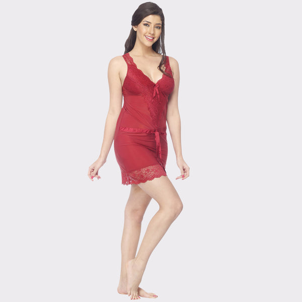 Vixenwrap Apple Red Solid Babydoll