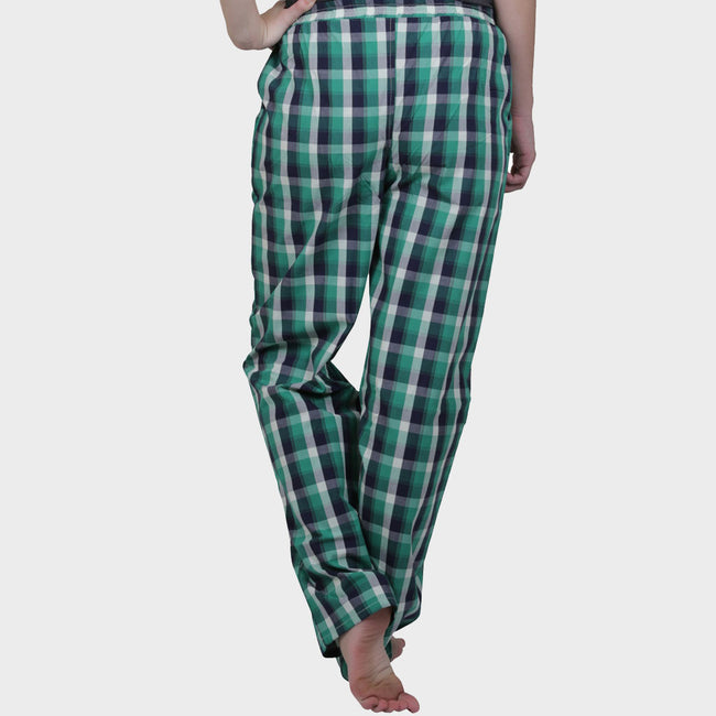 Green & Black Checkered Cotton Pyjama