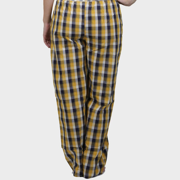 Yellow & Black Checkered Cotton Pyjama