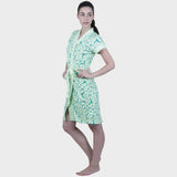 Mint Green Modern Print Water Absorbent Cotton Bathrobe