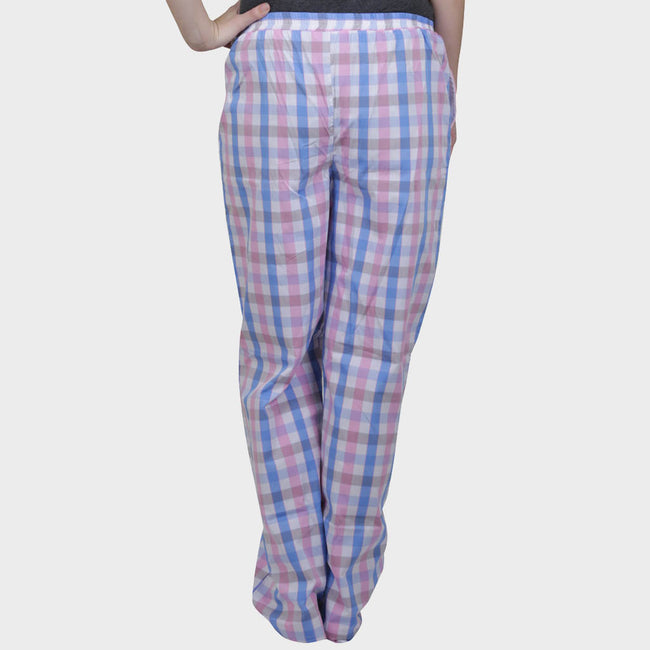 Pink & Blue Checkered Cotton Pyjama