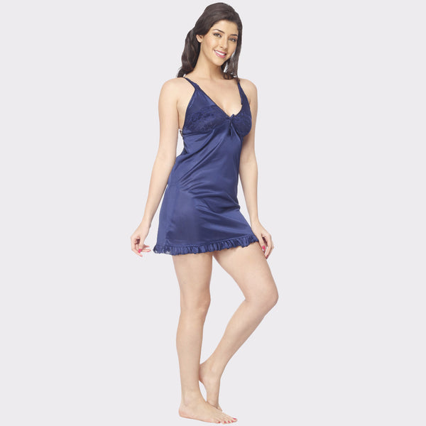 Vixenwrap Berry Blue Solid Babydoll