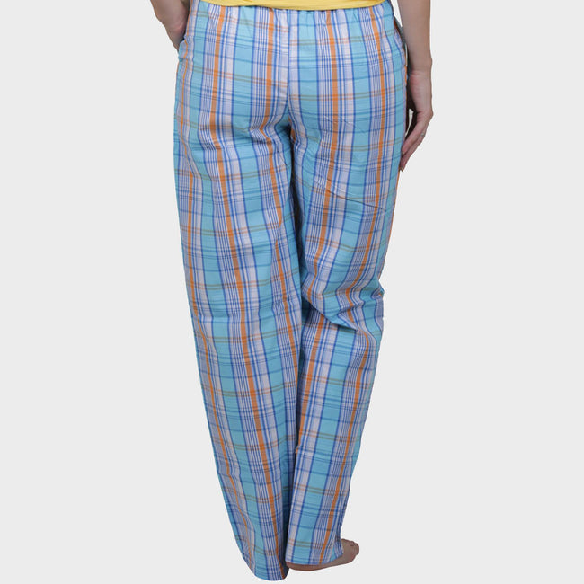 Blue Checkered Cotton Pyjama