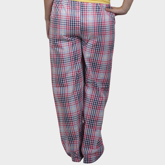 White & Red Checkered Cotton Pyjama