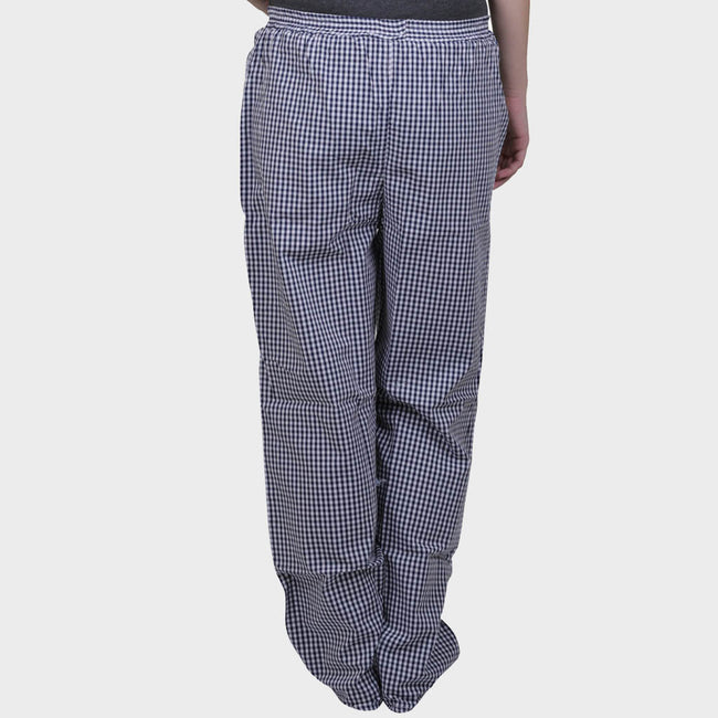 Navy Blue Checkered Cotton Pyjama