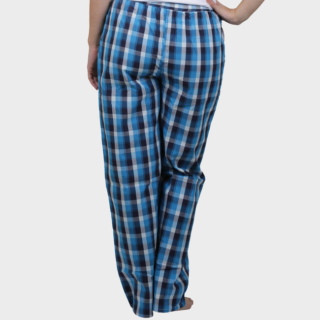 White & Blue Checkered Cotton Pyjama
