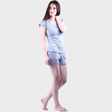 Light Grey Solid Top & Shorts Set
