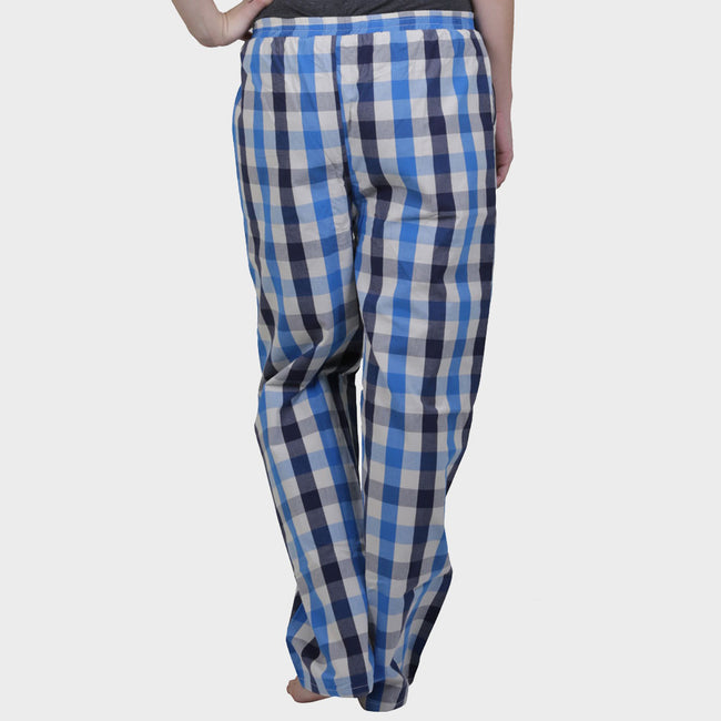 Blue & White Checkered Cotton Pyjama