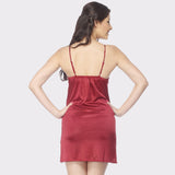 Vixenwrap Cherry Red Solid Babydoll