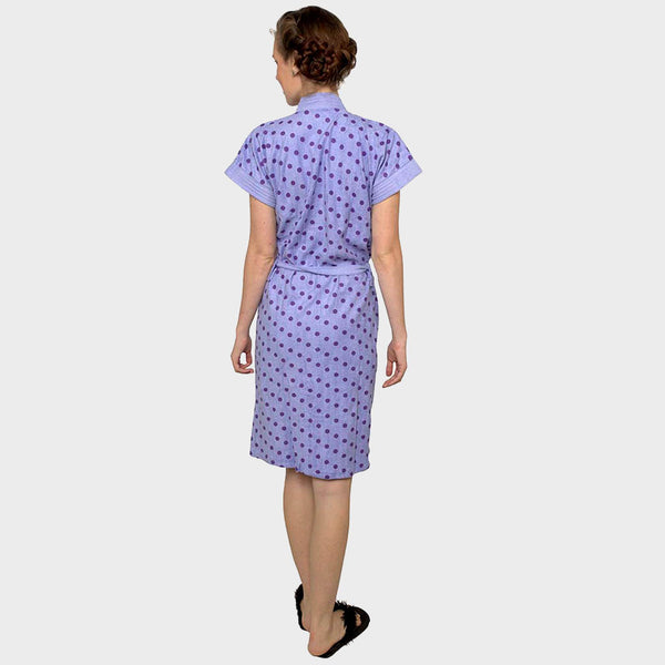 Purple Polka Dot Water Absorbent Cotton Bathrobe