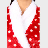 Red Polka Printed Bathrobe