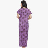 Vixenwrap Purple Printed Cotton Nighty