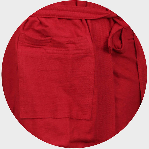 Candy Red Water Absorbent Cotton Bathrobe