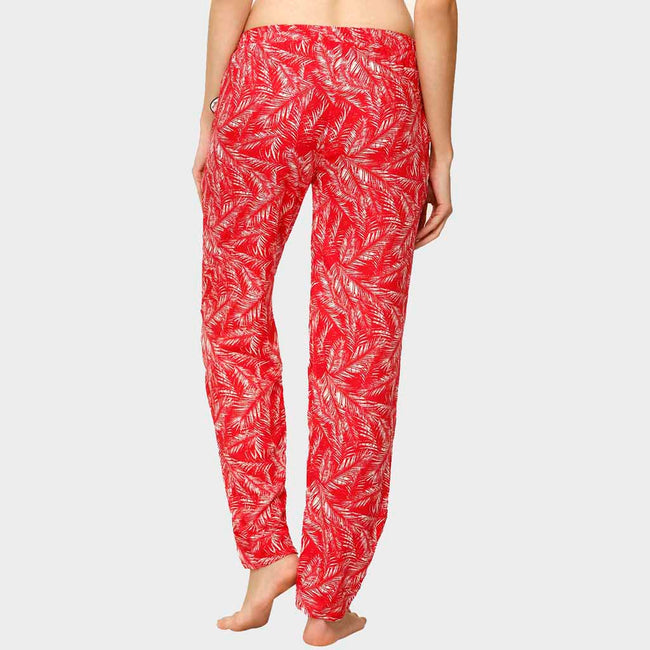 Rose Red Printed Pyjama