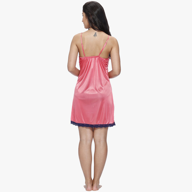 Vixenwrap Rose Pink & Berry Blue Satin Babydoll