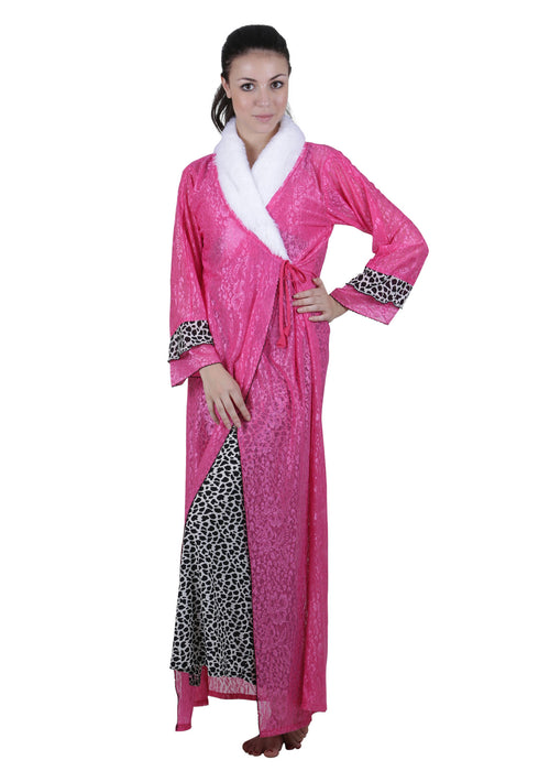 Pink Printed Nightgown , Nightgowns - vixenwrap, Vixenwrap - 1