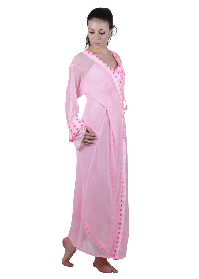 Pink Printed Nightgown , Nightgowns - vixenwrap, Vixenwrap - 2