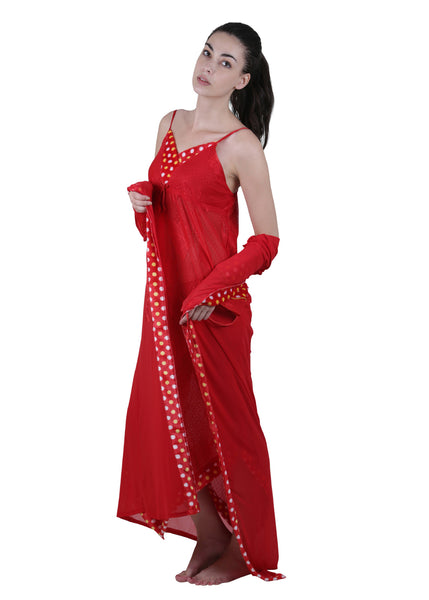 Red Printed Nightgown , Nightgowns - vixenwrap, Vixenwrap - 6