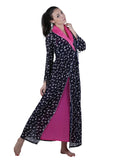 Black & Pink Printed Nightgown , Nightgowns - vixenwrap, Vixenwrap - 2