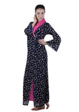 Black & Pink Printed Nightgown , Nightgowns - vixenwrap, Vixenwrap - 3