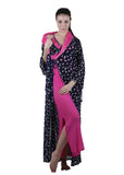 Black & Pink Printed Nightgown , Nightgowns - vixenwrap, Vixenwrap - 5