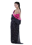 Black & Pink Printed Nightgown , Nightgowns - vixenwrap, Vixenwrap - 8