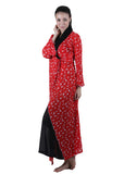 Red & Black Printed Nightgown , Nightgowns - vixenwrap, Vixenwrap - 3