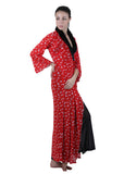 Red & Black Printed Nightgown , Nightgowns - vixenwrap, Vixenwrap - 2