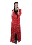 Red & Black Printed Nightgown , Nightgowns - vixenwrap, Vixenwrap - 1